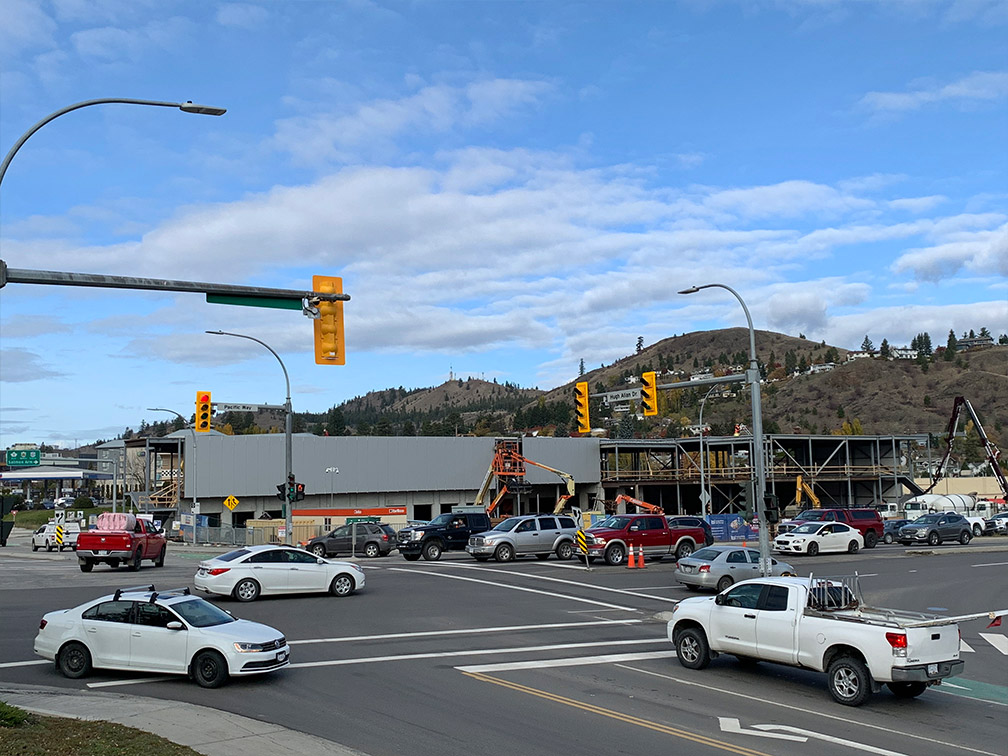 Kamloops property – view of facility on Pacific Way and Hugh Allan Drive intersection